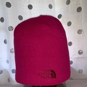 Hot Pink North Face Beanie